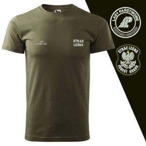 T-SHIRT koszulka STRAŻ LEŚNA haft