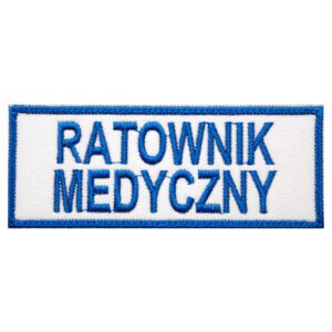 Naszywka haftowana medyczna ratownik medyczny 130x50mm MED1007 IND