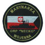 Marynarka Wojenna ORP Necko, naszywka wojskowa IND