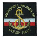 Marynarka Wojenna RP Polish Navy czarna, naszywka wojskowa IND