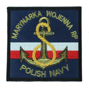 Marynarka Wojenna RP Polish Navy niebieska, naszywka wojskowa IND