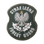 Naszywka STRAŻ LEŚNA Forest Guard z Orłem 52x65mm (zgodna z rozporządzeniem) IND