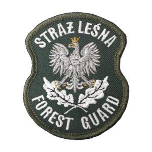 Naszywka STRAŻ LEŚNA Forest Guard z Orłem 68x85mm IND