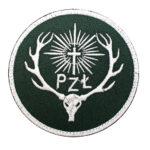 Naszywka PZŁ Polski Związek łowiecki 85mm – zielone tło IND