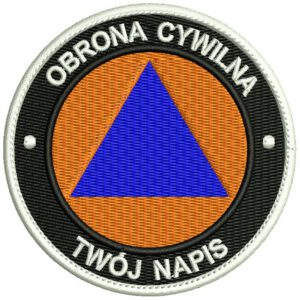 Naszywka Obrona Cywilna 80mm, naszywka paramilitarna IND