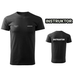 Czarna Koszulka T-SHIRT INSTRUKTOR STRZELECTWA SPORTOWEGO druk DTG