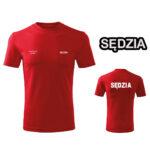 Czerwona Koszulka T-SHIRT SĘDZIA STRZELECTWA SPORTOWEGO druk DTG