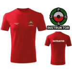 Czerwona Koszulka T-SHIRT INSTRUKTOR Polski Związek Strzelectwa Sportowego PZSS druk DTG