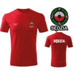 Czerwona Koszulka T-SHIRT SĘDZIA Polski Związek Strzelectwa Sportowego PZSS druk DTG