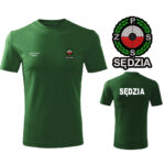 Zielona Koszulka T-SHIRT SĘDZIA Polski Związek Strzelectwa Sportowego PZSS druk DTG