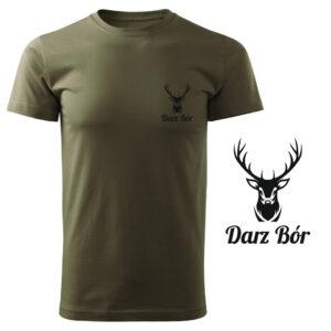 Koszulka t-shirt myśliwska Darz Bór myśliwy z nadrukiem DTG065