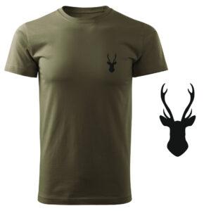 Koszulka t-shirt poroże myśliwska myśliwy z nadrukiem DTG079
