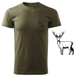 Koszulka t-shirt myśliwska jeleń myśliwy z nadrukiem DTG084
