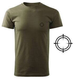 Koszulka t-shirt celownik myśliwska militarna z nadrukiem DTG085
