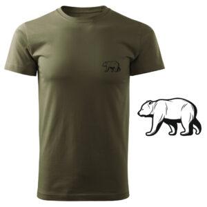 Koszulka t-shirt myśliwska niedźwiedź myśliwy z nadrukiem DTG086