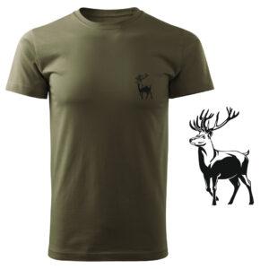 Koszulka t-shirt myśliwska jeleń myśliwy z nadrukiem DTG087