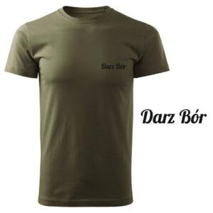 Koszulka t-shirt myśliwska Darz Bór myśliwy z nadrukiem DTG066