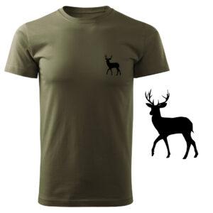 Koszulka t-shirt myśliwska z nadrukiem – jeleń DTG069
