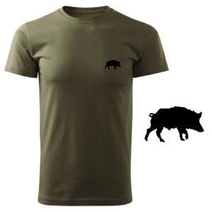 Koszulka t-shirt myśliwska z nadrukiem – dzik DTG070