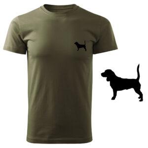 Koszulka t-shirt myśliwska pies myśliwski z nadrukiem DTG073