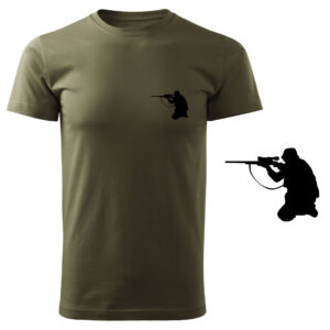 Koszulka t-shirt myśliwska myśliwy z nadrukiem DTG074