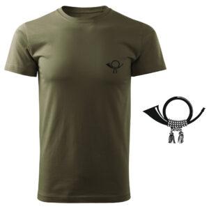 Koszulka t-shirt myśliwska myśliwy z nadrukiem DTG094