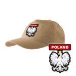 Piaskowa czapka strażacka z daszkiem WZÓR 06 Orzeł Polski PLT
