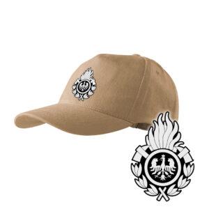 Piaskowa czapka strażacka z daszkiem WZÓR 01 Ochotnicza Straż Pożarna OSP PLT